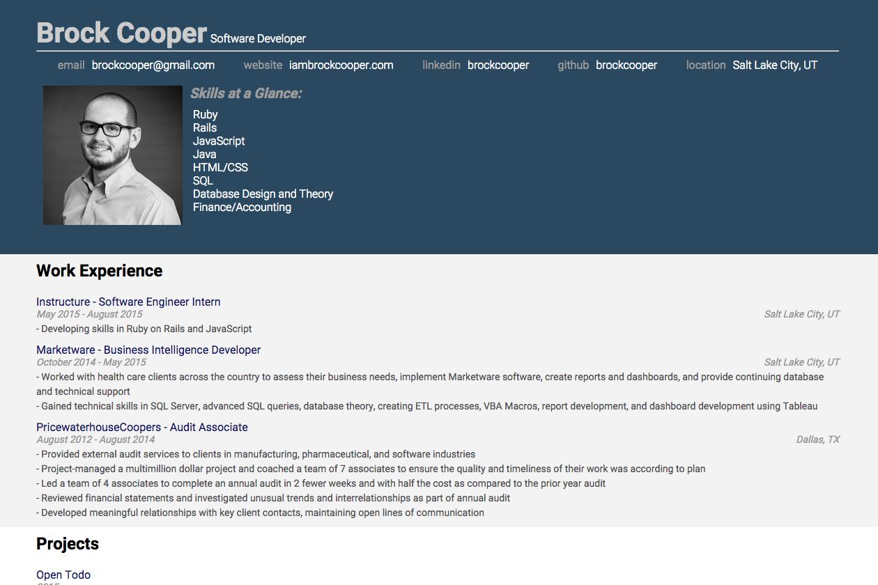Cooper brock Brock Cooper